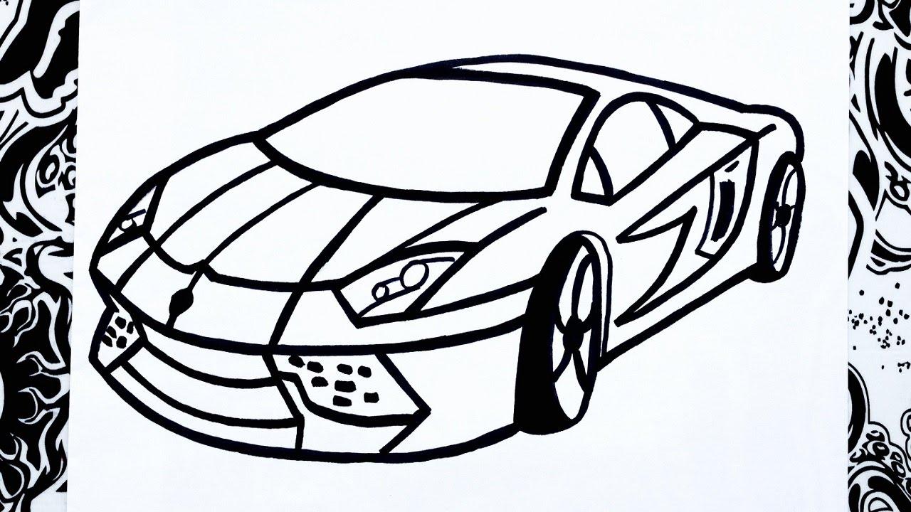 Como Dibujar Un Carro