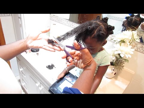 Toddlers First Trim - How To Trim Your Toddlers Natural Hair
