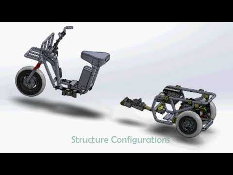 3 Wheels Cargo E-motorcycle Made in Taiwan