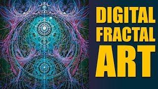 Digital Fractal Art Entitled Fractal Symmetry By Alan LeStourgeon