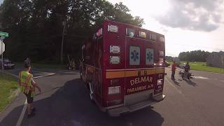 Motorcycle accident, Paramedic A-74 & Rescue 74 respond