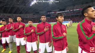 Football Semi-Final Thailand vs Indonesia National Anthem 28th SEA Games Singapore 2015