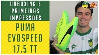 CHUTEIRA PUMA EVOSPEED 17.5 TT (SOCIETY) - UNBOXING E PRIMEIRAS IMPRESSÕES - ANÁLISE