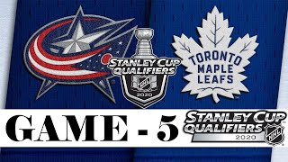 Columbus Blue Jackets Vs Toronto Maple Leafs | Aug.09, 2020 | Game 5 | NHL 2019/20 | Обзор матча