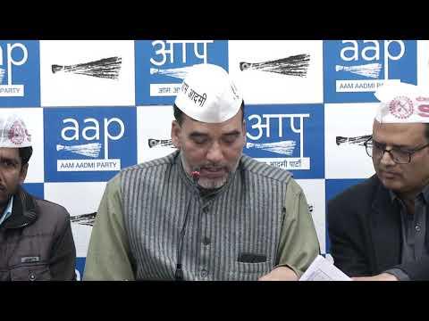 AAP Delhi Convenor Gopal Rai Introduces Shramik Vikas Sangh