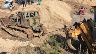 Т-100 Сталинец застрял ЧТЗ Raupe Bergung Rescue + Hanomag D700