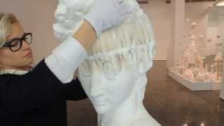 """Bust of David"" sculpture by Li Hongbo"