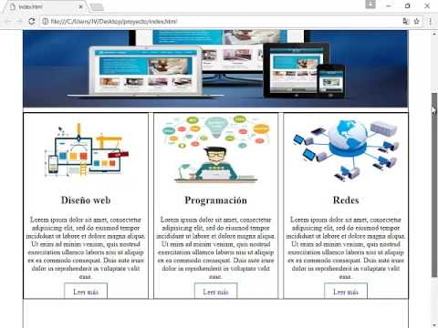 Crear una pagina web con html y css video 2
