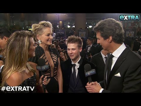 Sharon Stone & Son Roan, 17, Talk Golden Globes… and Meeting Tonya Harding!