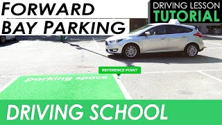 Forward Bay Parking Manoeuvre with Reference Points | Driving Tutorial