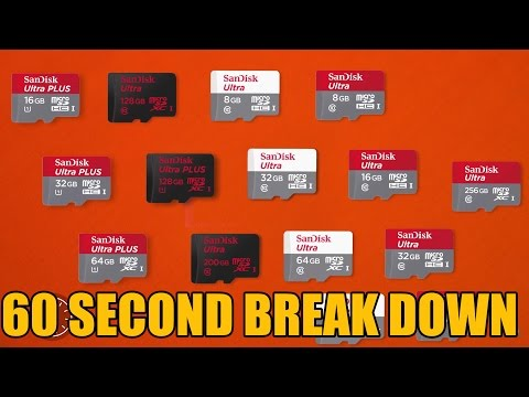 Sandisk Ultra Micro SD Card 60 Second Break Down