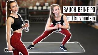 10 Minuten Bauch Beine Po Workout mit Kurzhanteln | Effektives Homeworkout für deine Sommerfigur