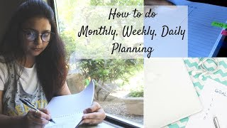 How To Do Monthly, Weekly, Daily Planning in Hindi