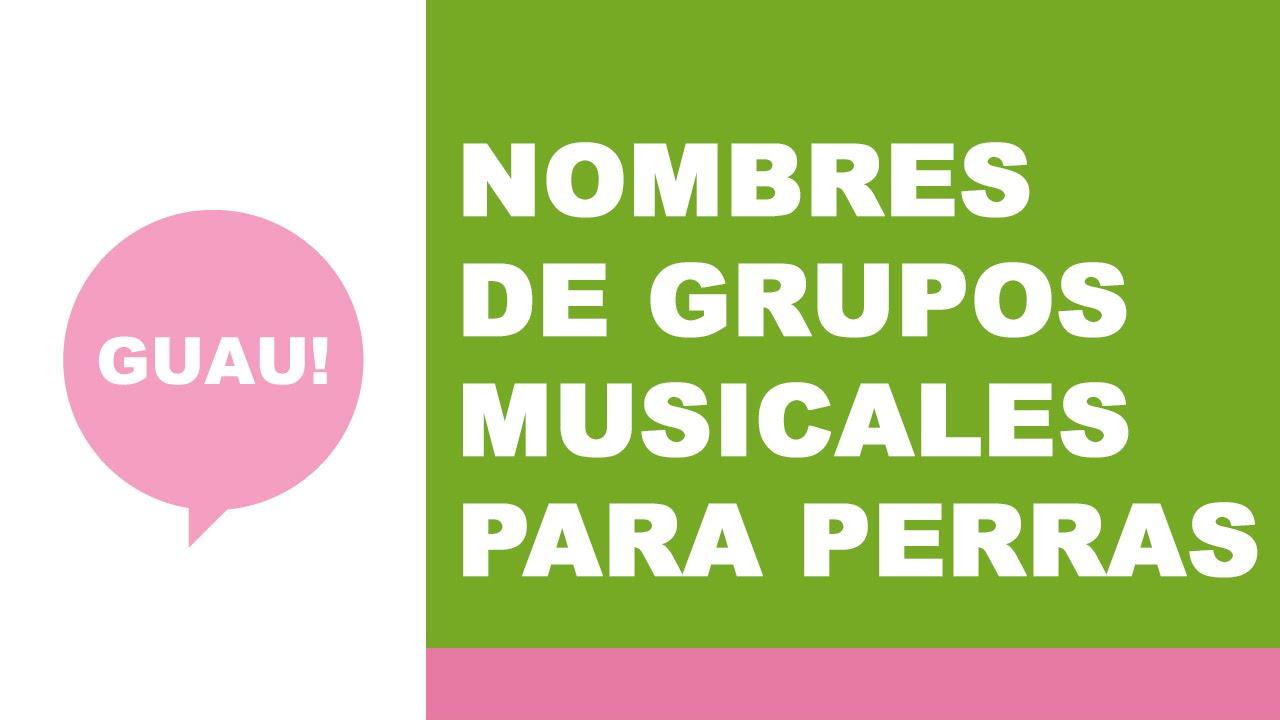 Nombres de grupos musicales para perras - nombres para mascotas - www.nombresparamimascota.com