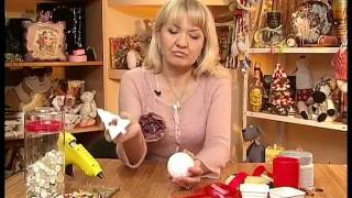 Смотреть онлайн Простые новогодние игрушки своими руками