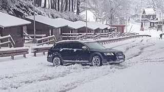 Audi A6 Allroad 3.0 TDI nella neve