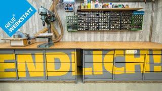 NEUE WERKSTATT (!) - Das war ÜBERFÄLLIG! Holzwerkstatt einrichten + Wände verkleiden