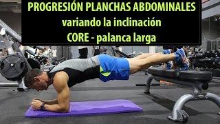 Planchas Core de abdominales con apoyo pies | Progresión nivel 2