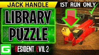 Resident Evil 2 Remake Library Puzzle - How to Find the Jack Handle