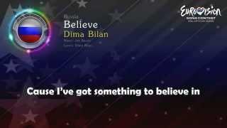 "(WINNER..Russia..Eurovision 2008) ""Believe"" by: Dima Bilan |With Lyrics|"