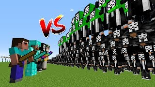 Minecraft Battle: NOOB PRO HACKER GOD VS 1000 HACKERS MUTANT CHALLENGE / Animation