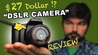 $27 Dollar DSLR Camera - REVIEW (SLR Camera From Banggood)