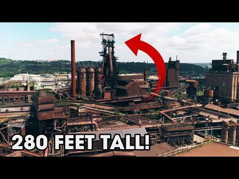 Largest Abandoned Factory We've Ever Explored! - Steel Mill Blast Furnace