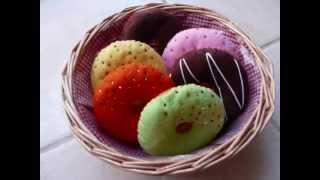 Felt Crafts - Felt Food Donut Patterns (from The Felt Cuisine Series) - Now On EBay !