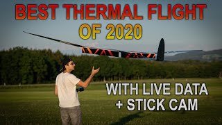 MOST AMAZING THERMAL FLIGHT of 2020 with LIVE DATA & STICK CAM
