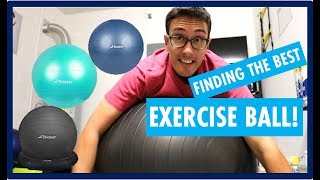 TRIDEER EXERCISE BALL REVIEW - IT IS IMPORTANT TO PICK THE RIGHT STABILITY BALL FOR EXERCISE!