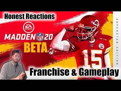 Madden 20 Beta Franchise & Gameplay Honest Reactions   Hats Off To EA Sports, This Game Is Good