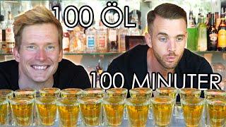 DRICKER 100 SHOT ÖL PÅ 100 MINUTER!