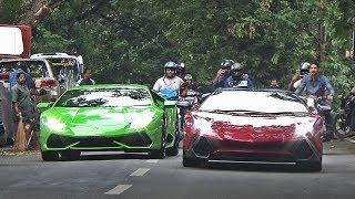Father & Son Lamborghini Duo - Aventador SV & DMC Huracan