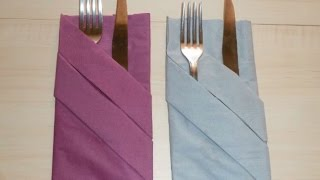 Napkin Folding | Silverware Pouch| Paper Towel Folding Tutorial