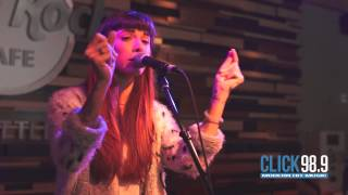 Click 98.9 Acoustic Lounge: Christina Perri - Burning Gold
