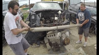 Pulling a Junkyard LS engine by HAND | $190 L33 5.3 LS for the Sh!thorse