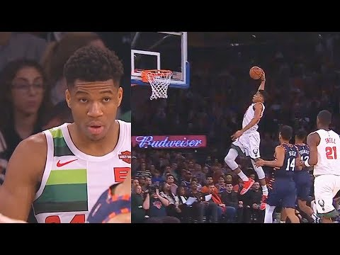 Giannis Gets REVENGE On Entire Knicks & Receives Standing Ovation From The Crowd! Bucks vs Knicks