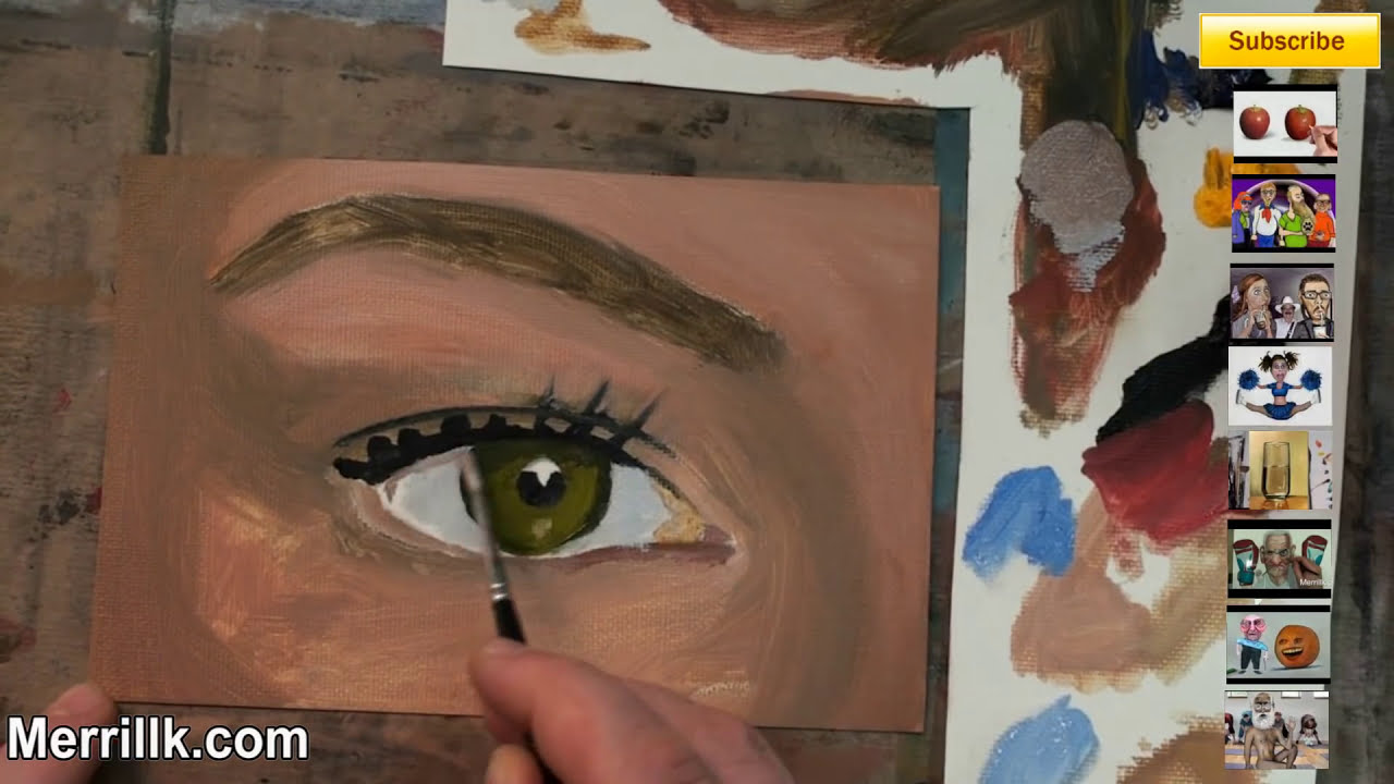 how to paint an eye step by step