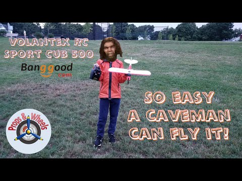 So easy a caveman can fly it! Volantex RC Sport Cub 500 from Banggood