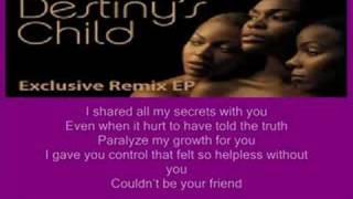 ( THROUGH WITH LOVE ) by Destinys Child * Lyrics *