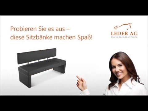Echtleder Sitzbänke mit Rückenlehne online kaufen bei Leder AG