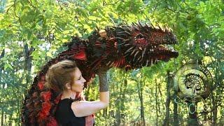 No Robotics Blinking Original Dragon Puppet! Wood Splitter Lee Cross