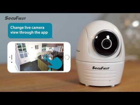 SecuFirst draadloze IP beveiligingscamera pan/tilt indoor CAM114