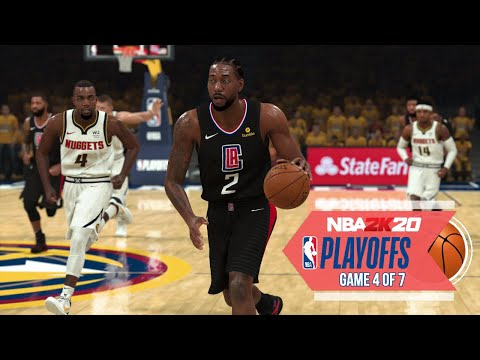 NBA 2020 Virtual Playoffs - Clippers vs Nuggets Round 2 Game 4 - Los Angeles vs Denver (NBA 2K)