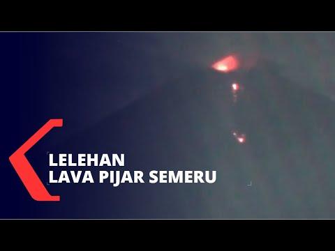 Gunung Semeru Masih Keluarkan Lelehan Lava Pijar