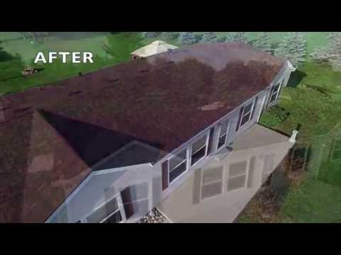 Overview of before, during and after of an entire home roof replacement