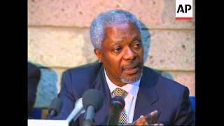 KENYA: UN CHIEF ADMITS UN INACTIVE AT PREVENTING RWANDA GENOCIDE