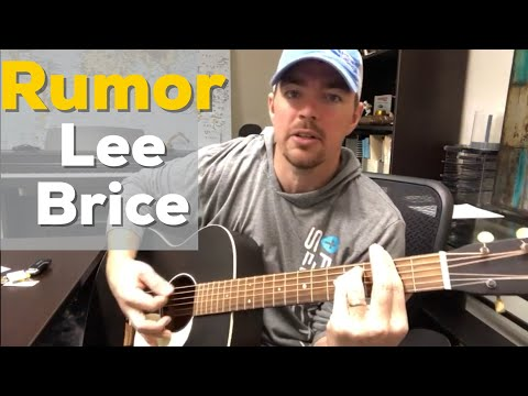 Rumor | Lee Brice | Beginner Guitar Lesson