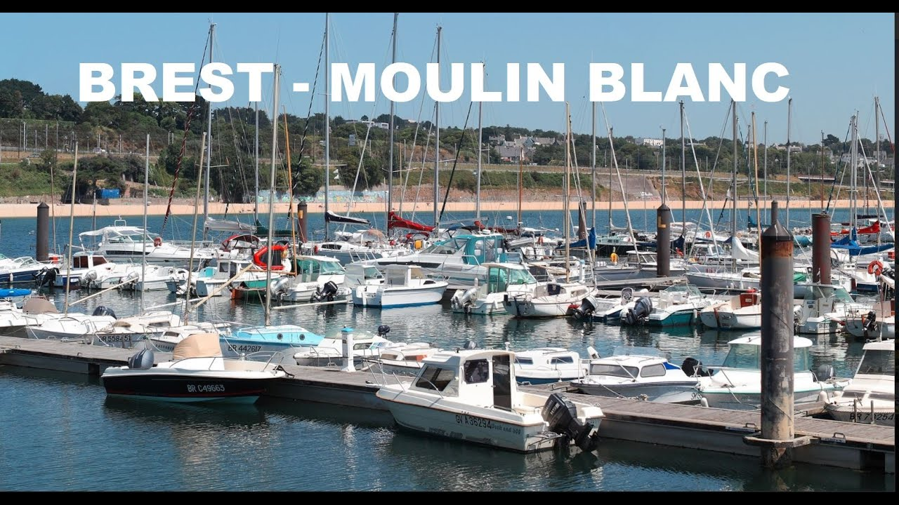 Webcam en direct de la marina du Moulin Blanc à Brest