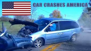 CAR CRASHES IN AMERICA #20 | BAD DRIVERS USA, CANADA